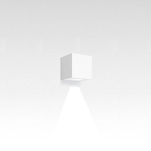 Effetto Square Outdoor LED Wall Light White Large Beam