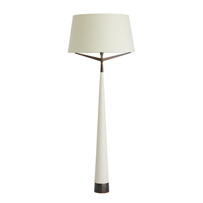 Elden Floor Lamp - Ivory/Heritage Brass Finish