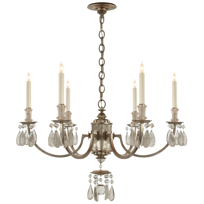 Elizabeth Chandelier - Brushed Silver Finish