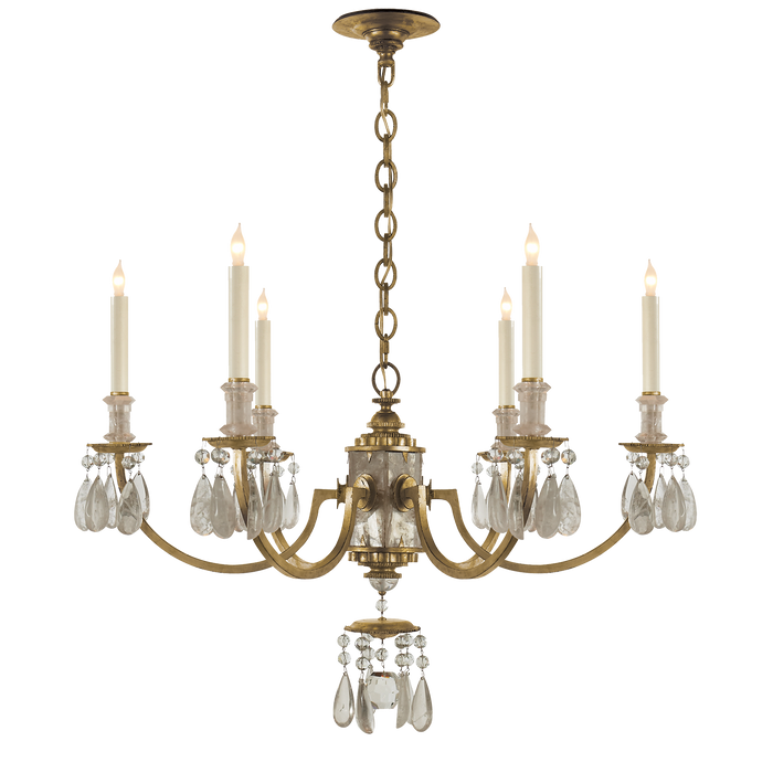 Elizabeth Chandelier - Gilded Iron Finish