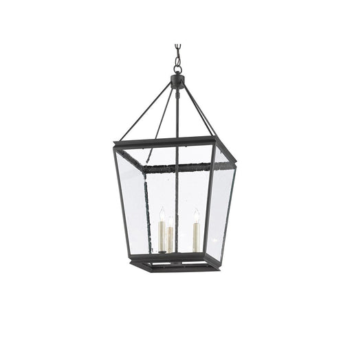 Ellerman Lantern - Old Iron Finish with Seeded Glass