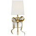 Ellery Small Gros-Grain Bow Sconce - Soft Brass
