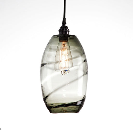 Ellisse Pendant Light - Matte Black/Optic Smoke
