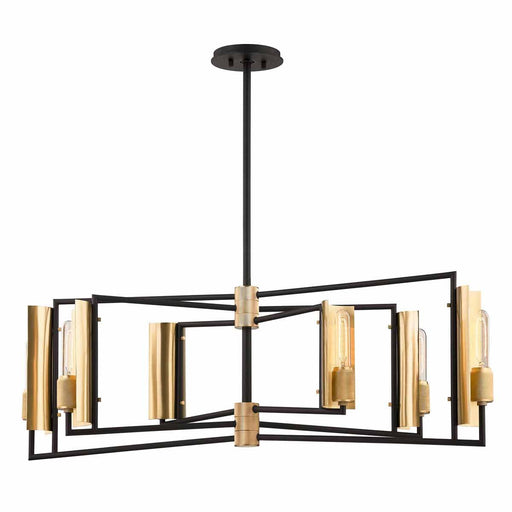 Emerson Island Pendant - Black/Brushed Brass Finish