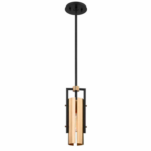 Emerson Mini Pendant - Black/Brushed Brass Finish