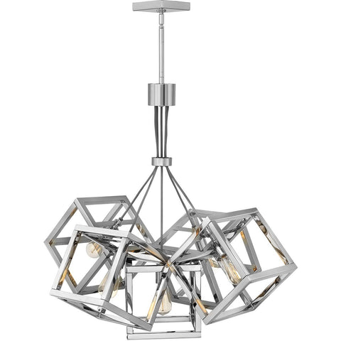 Ensemble 5 Light 31 inch Polished Nickel Chandelier Ceiling Light