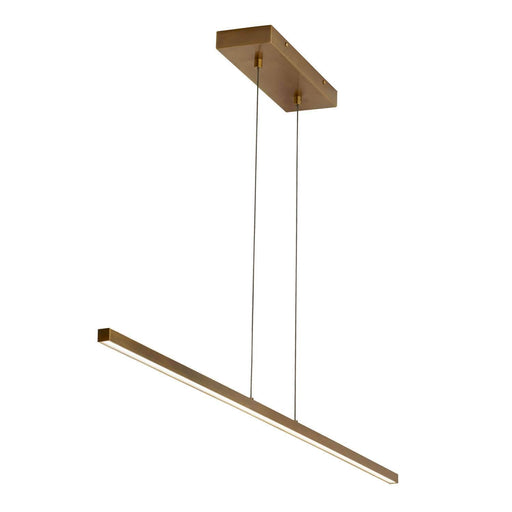 Essence Linear Pendant - Aged Brass Finish