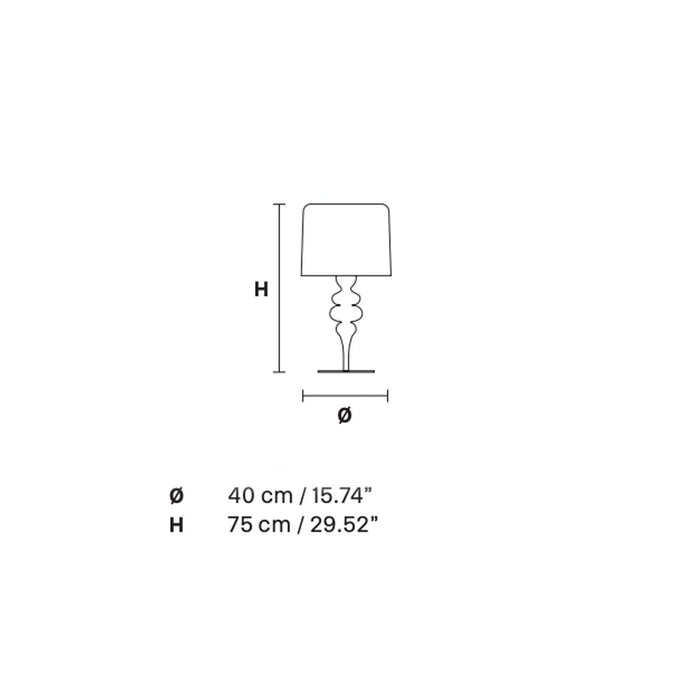 Eva 4 Light Table Lamp - Diagram