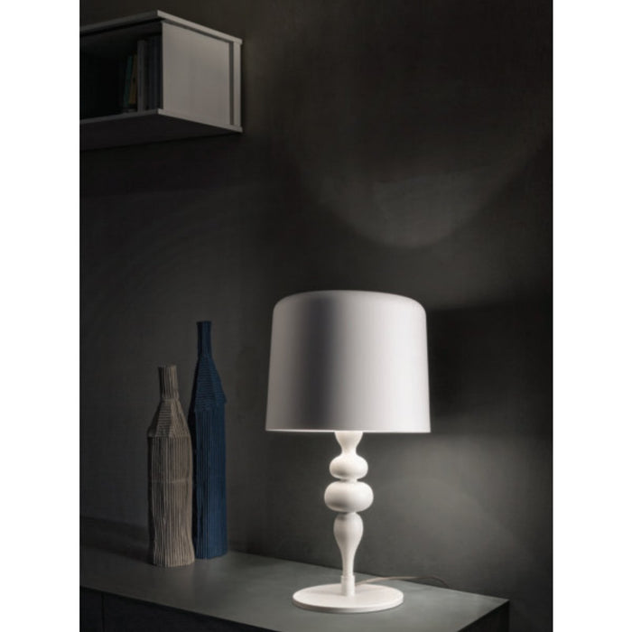 Eva 4 Light Table Lamp - White Finish Display