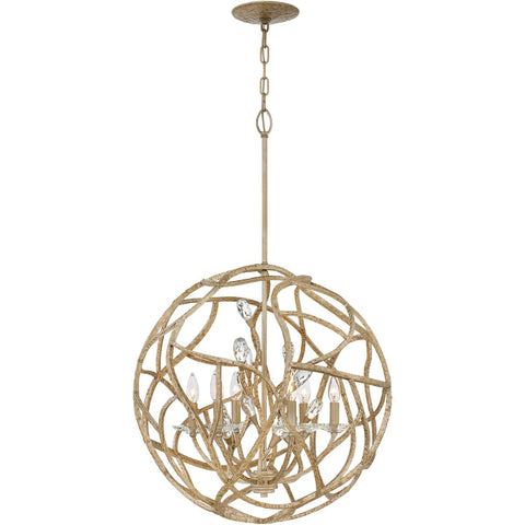 Eve 6 Light Chandelier 24 Inch