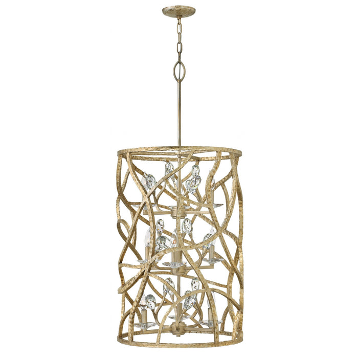 Eve Large Cage Pendant - Champagne Gold