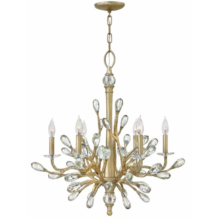 Eve Small Chandelier - Champagne Gold