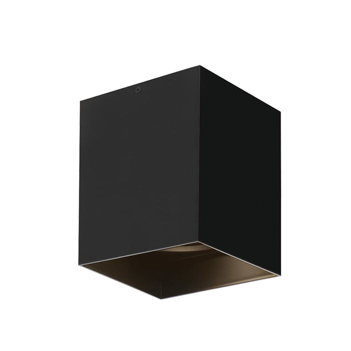 "Exo 6"" LED Flush Mount - Matte Black/Black Finish"