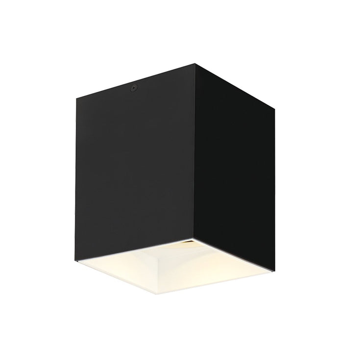 "Exo 6"" LED Flush Mount - Matte Black/White Finish"