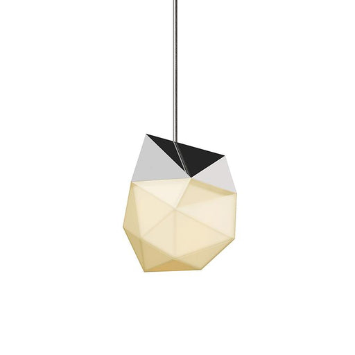 Facets Small LED Pendant - Polished Chrome