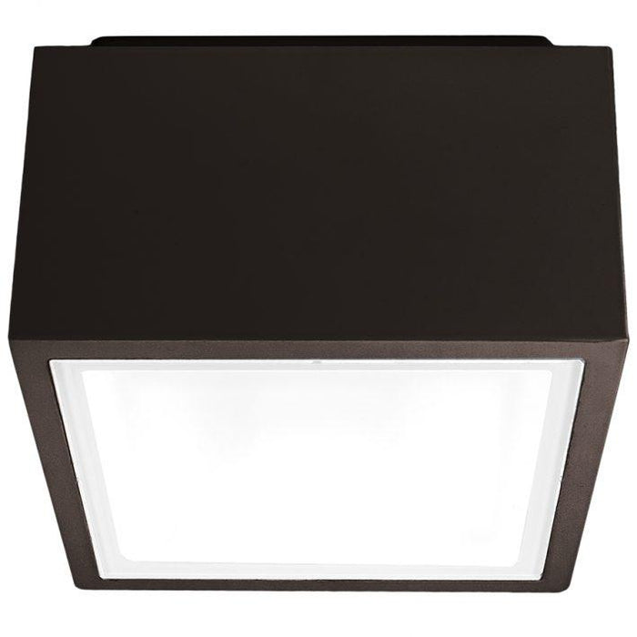 Bloc Outdoor LED Flush Mount Ceiling Light - Bronze Finish