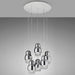 Fedora LED 6-Light Pendant - Chrome Finish
