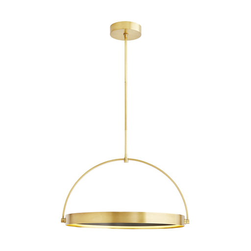 Fisk LED Pendant - Antique Brass Finish