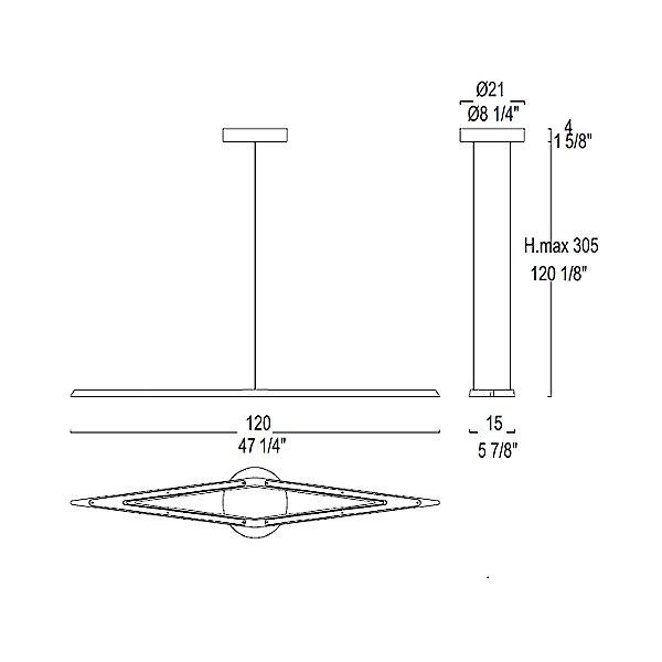 Flecha S Pendant Light - Diagram