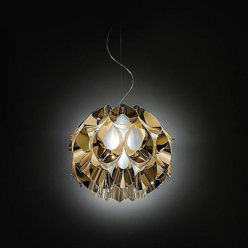 Flora Metallic Small Suspension Light - Gold Finish