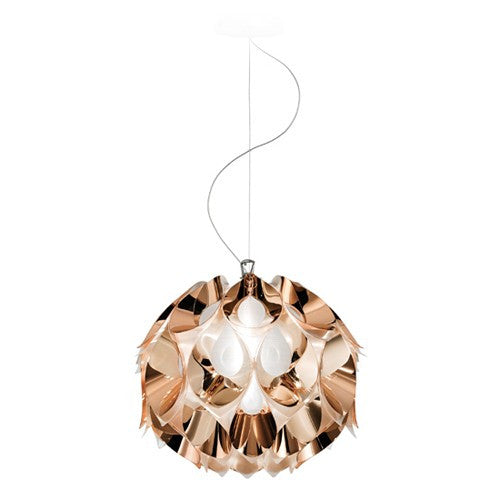 Flora Metallic Small Suspension Light - Copper Finish