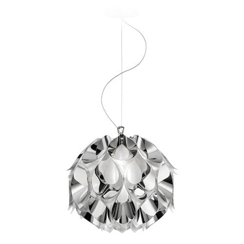 Flora Metallic Small Suspension Light - Silver Finish