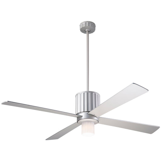 Flute Ceiling Fan - Nickel (LED Light)