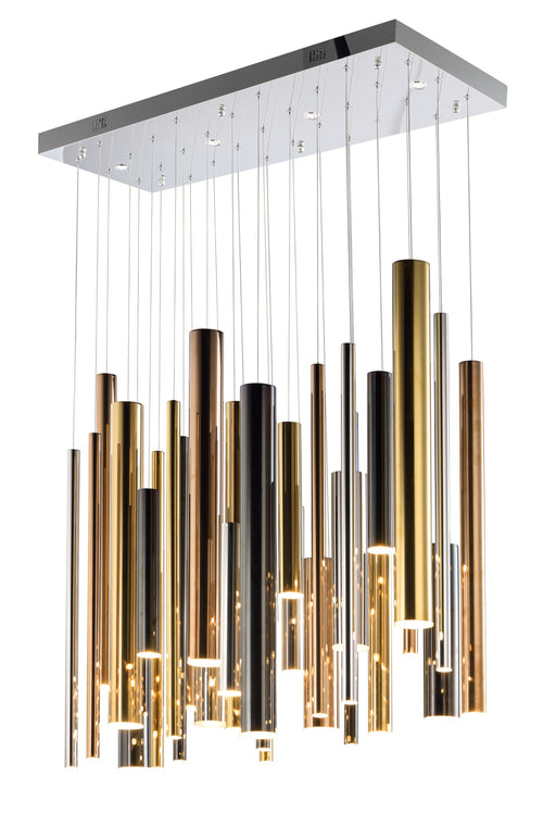 Flute LED 31-Light Pendant - Multi-Plated
