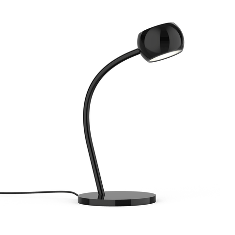 Flux LED Desk Lamp - Gloss Black Finish