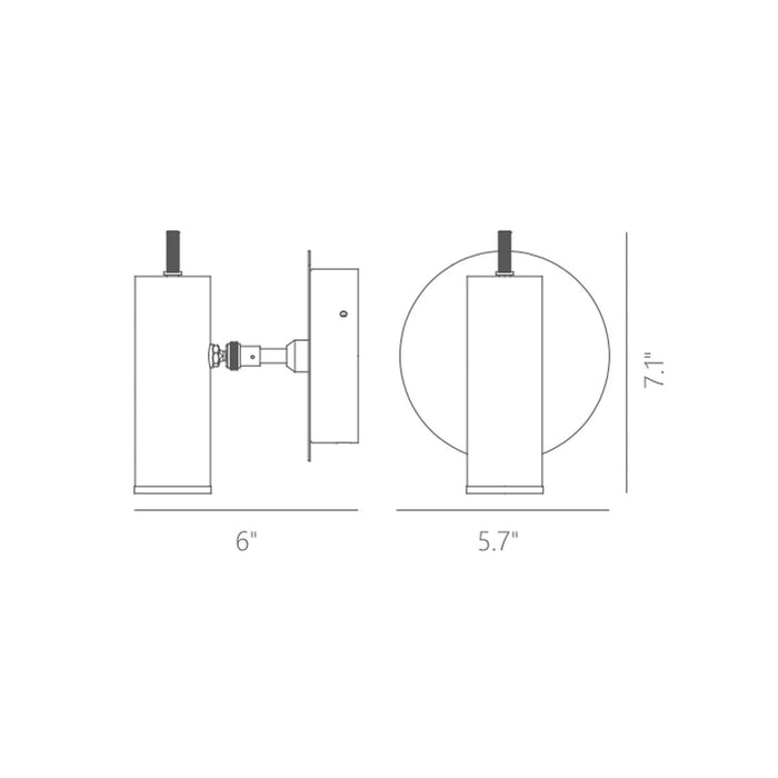 Focus Wall Sconce - Diagram