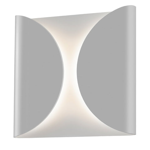 Folds Outdoor LED Wall Sconce - Gray