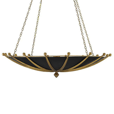 Fontaine Bowl Pendant - Gold Leaf