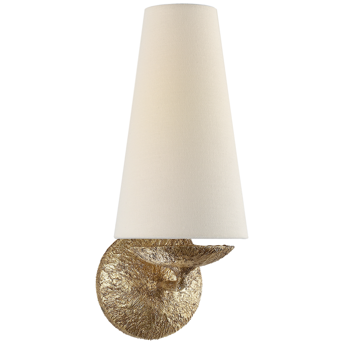 Fontaine Single Sconce - Gilded Plaster