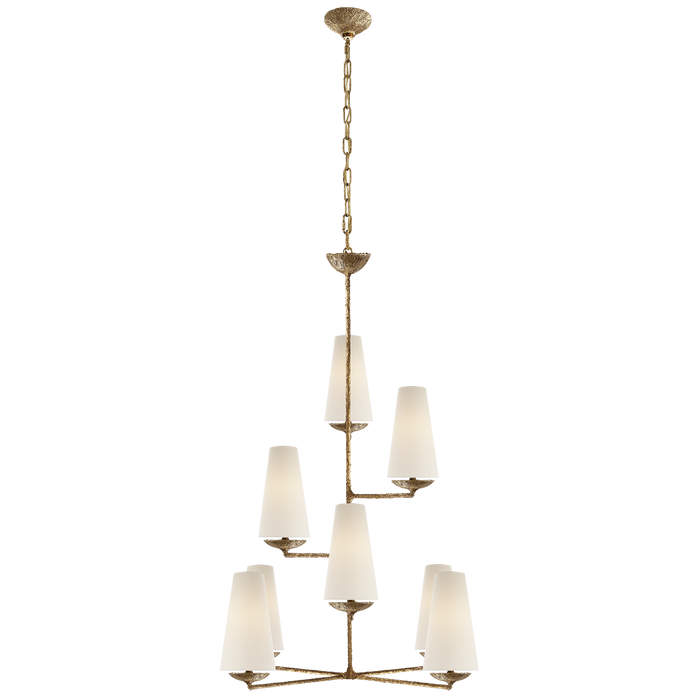 Fontaine Vertical Chandelier - Gilded Plaster