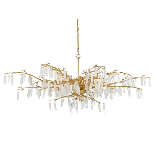 Forest Dawn Chandelier - Washed Lucerne Gold Finish