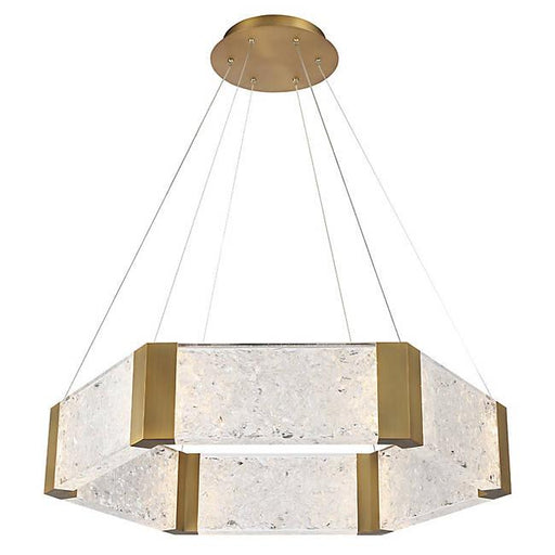 Forever LED Chandelier - Aged Brass Finish