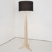 Forma LED Floor Lamp - Forma LED Floor Lamp - Maple / Black Amaretto Shade / Brushed Aluminum Finish