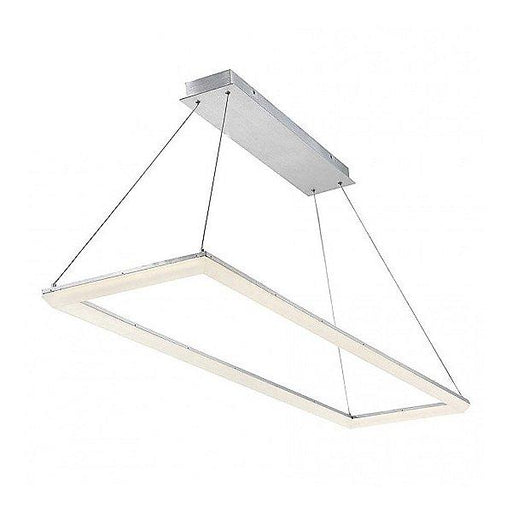 "Frame 58"" LED Pendant Light - Brushed Aluminum"