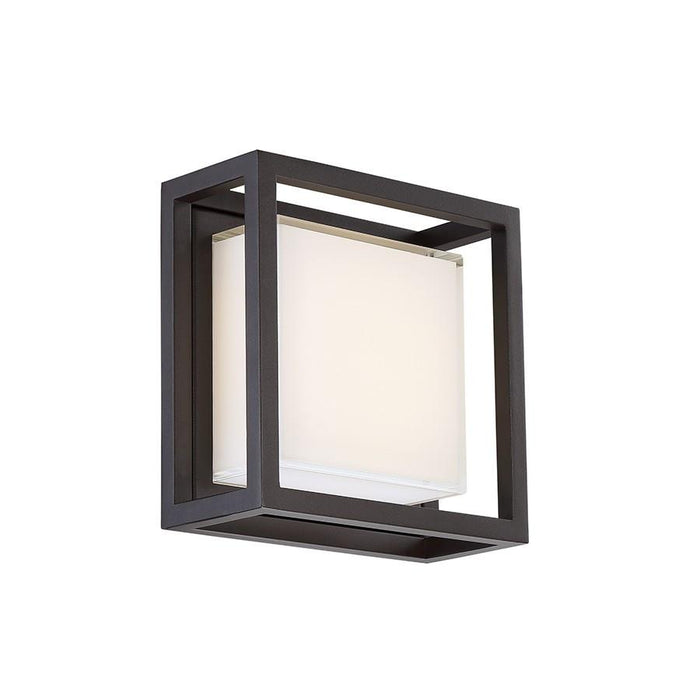 Framed Small LED Outdoor Wall Sconce - Bronze Finish