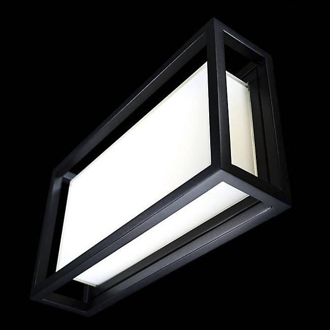 Framed LED Outdoor Wall Light - Display
