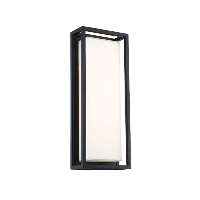 Framed Large LED Outdoor Wall Sconce - Black Finish