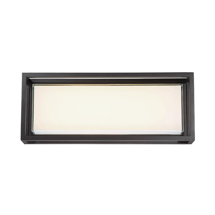Framed Large LED Outdoor Wall Sconce - Bronze Finish
