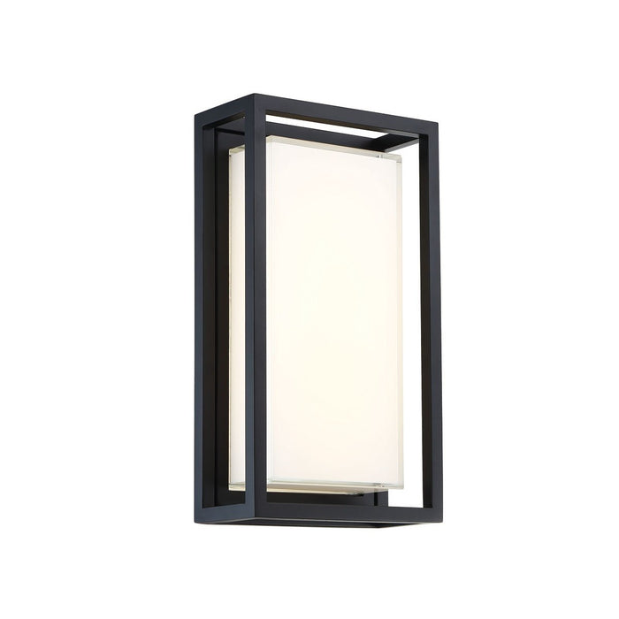 Framed Medium LED Outdoor Wall Sconce - Black Finish