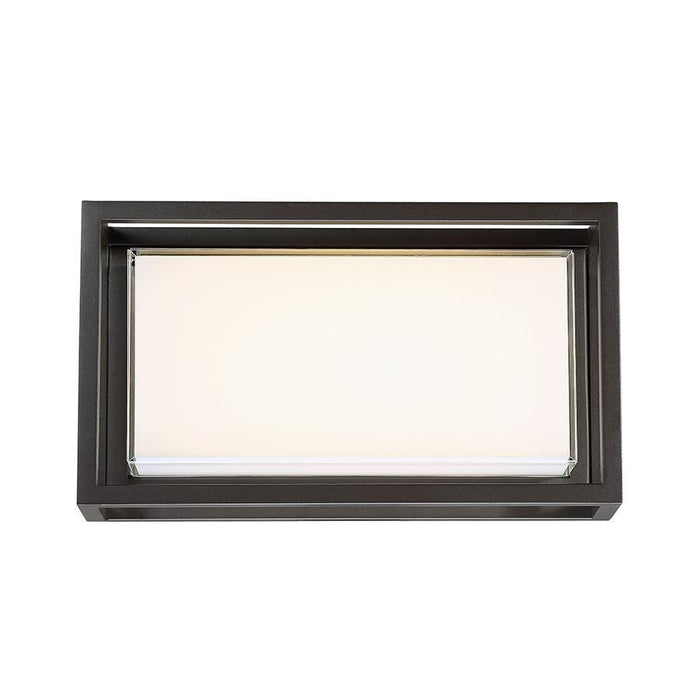 Framed Medium LED Outdoor Wall Sconce - Bronze Finish