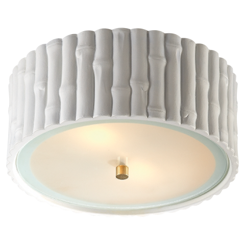 Frank Small Flush Mount White