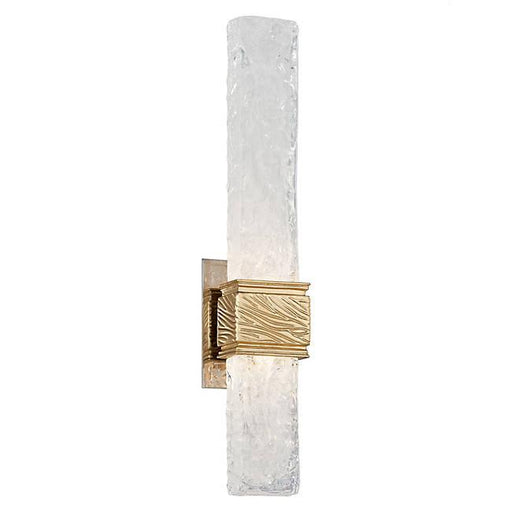 Freeze Wall Sconce - Gold Leaf W Polished Stainless Finish