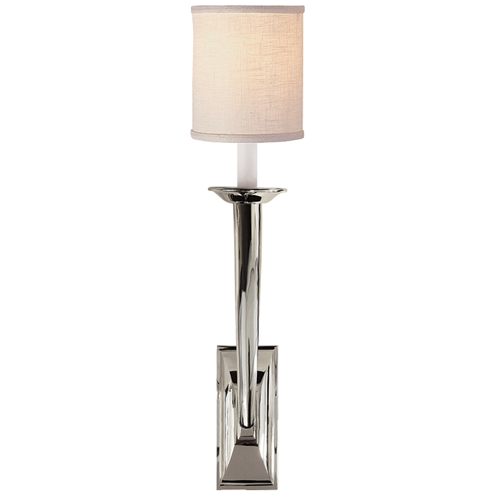 French Deco Horn Sconce - Polished Nickel Finish