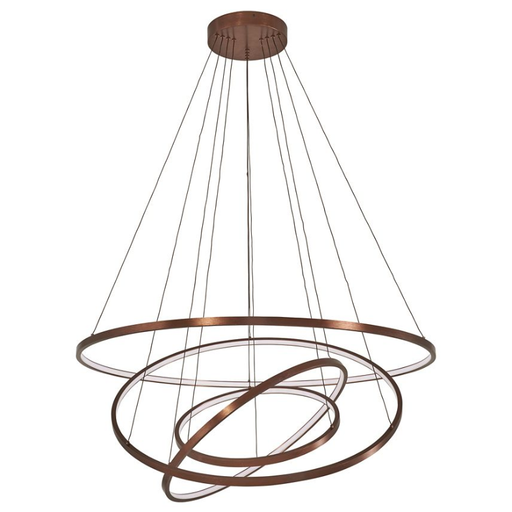 Full Orbit 4-Ring LED Pendant Light - Satin Bronze Finish