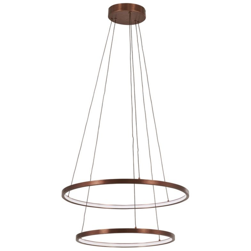 Full Orbit 2-Ring LED Pendant Light - Satin Bronze Finish