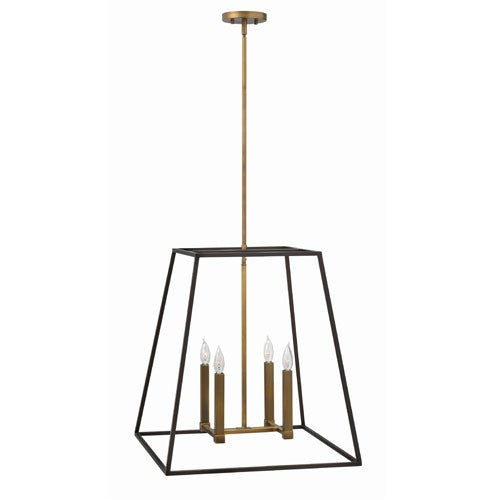 Fulton Large Foyer Chandelier - Bronze with Heirloom Brass Accents